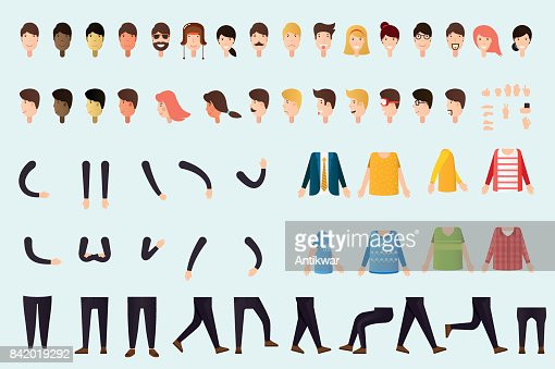 Constructor of people body : stock vector