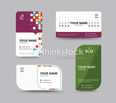 Contact card template business name card design set vector ill contact card template business name card design set vector ill vector art accmission Image collections