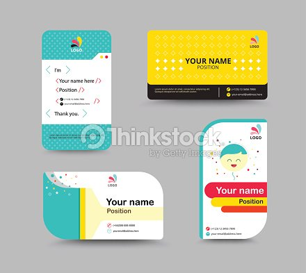 Contact card template business name card design set vector contact card template business name card design set vector illustration vector art accmission Gallery