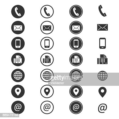 Contact info icon : Vector Art