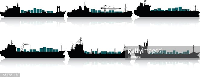 Container Ships Vector Art | Getty Images