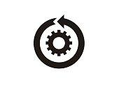 simple icon of continuous improvement