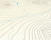 Editable vector illustration of an angled generic contour map. Hi-res jpeg file included.