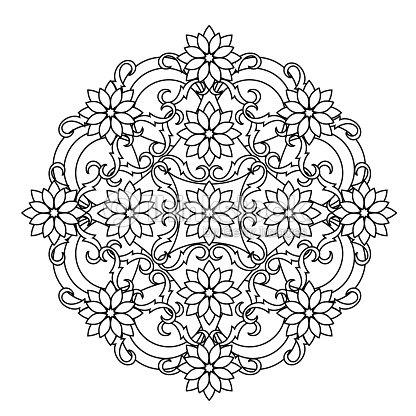 contour mandala étnica religiosa elemento de desenho de tatuagem