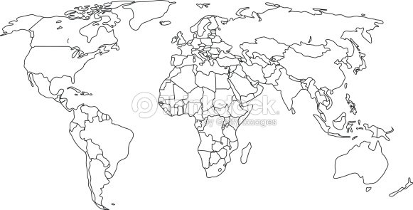 Contour political map of world with countries vector illustration contour political map of world with countries vector illustration vector art gumiabroncs Image collections