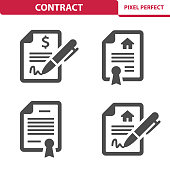 Professional, pixel perfect icons depicting various file, document and contract concepts.
