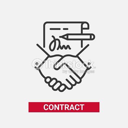 contract modern vector line design single icon vector art thinkstock
