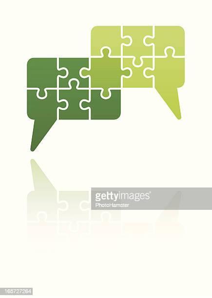 conversation speech bubbles