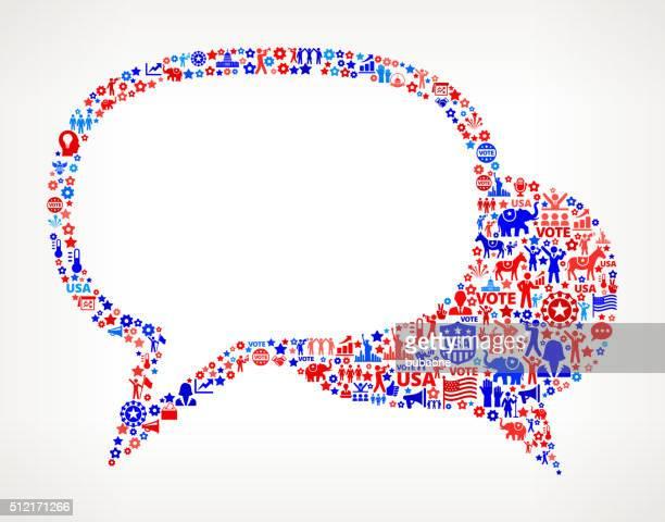 Gespräch Abstimmung und Wahlen VEREINIGTE STAATEN patriotischen Symbol-Muster