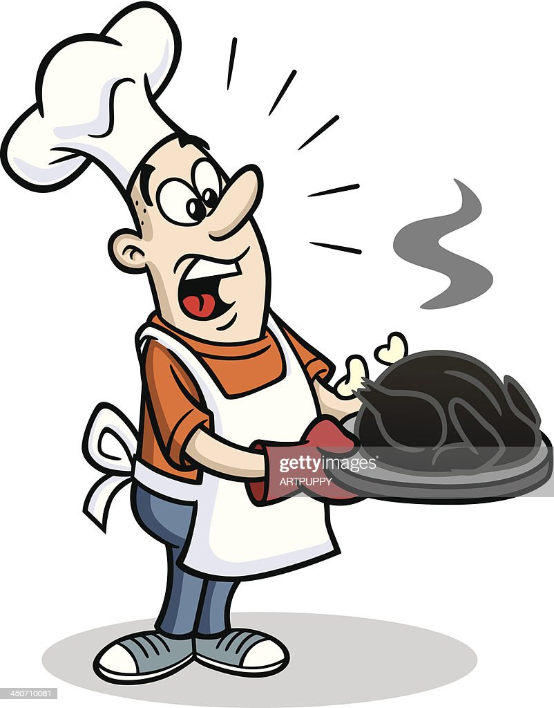 cook with burnt thanksgiving turkey vector art getty images