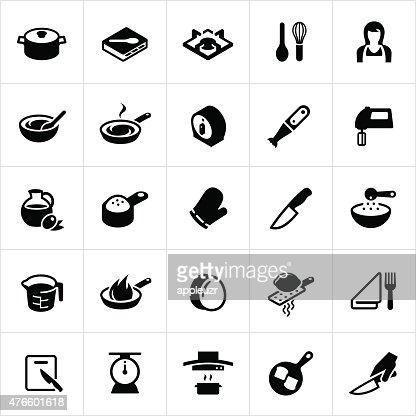 kochen und küche icons vektorgrafik | getty images - Kochen Und Küche