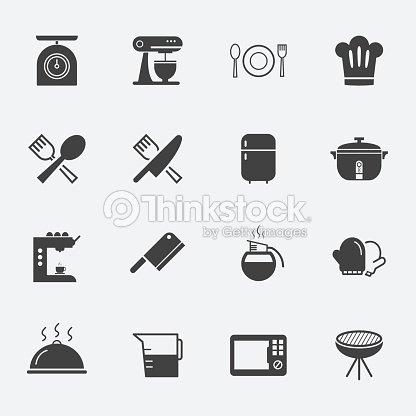 Stoviglie e strumenti da cucina icona arte vettoriale thinkstock - Strumenti da cucina ...