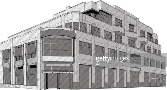Luxury Living Apartment Building Illustration Vector Art Getty