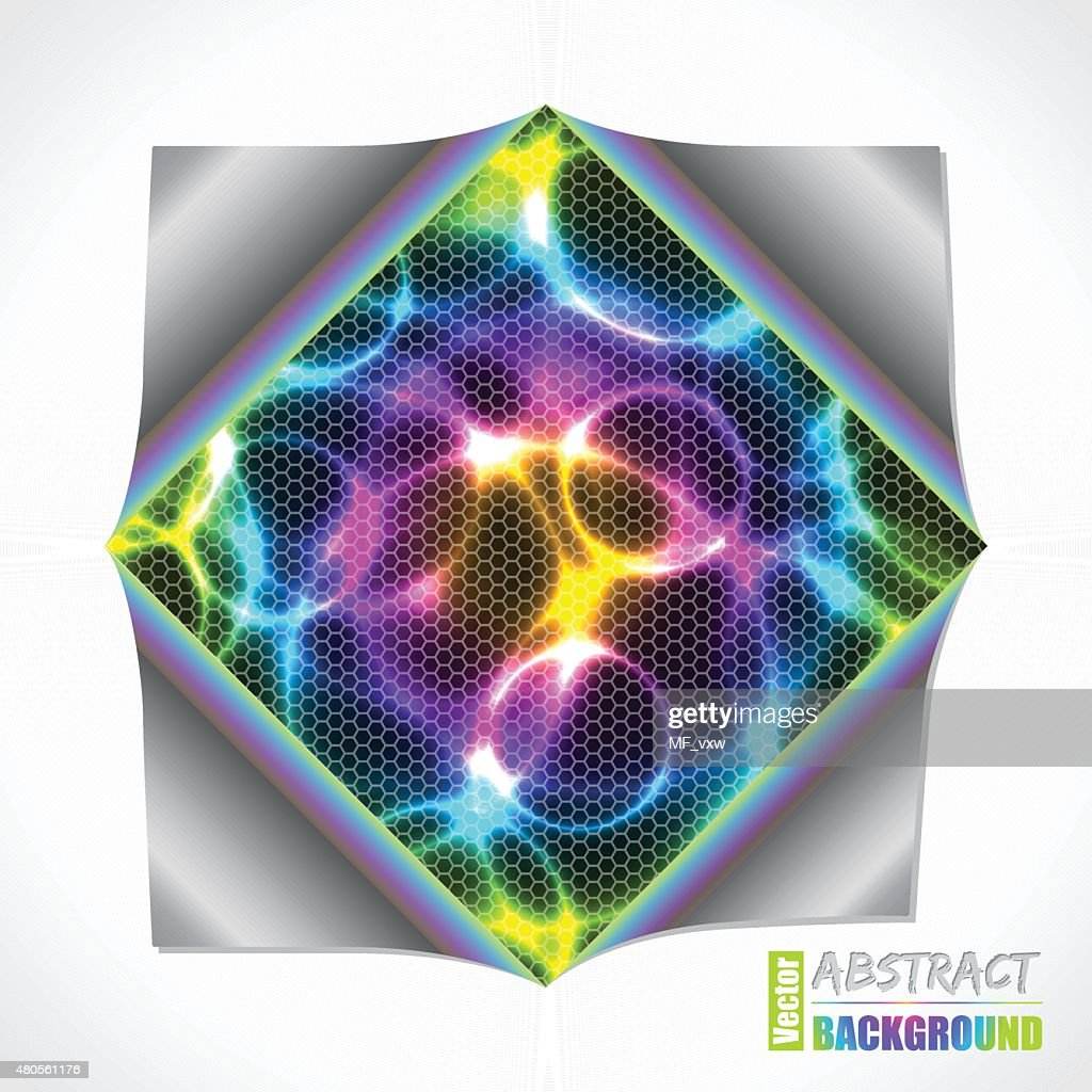 Cool plasma and laser brochure with folded paper : Vector Art