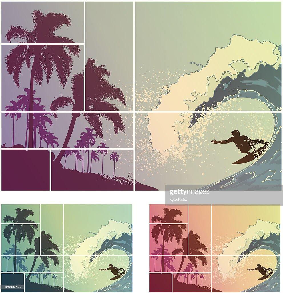 Cool Surf Composition : Vector Art
