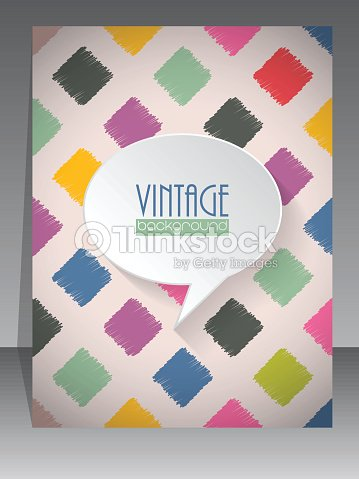 Cool Vintage Retro Scrapbook Cover Design Vector Art Thinkstock