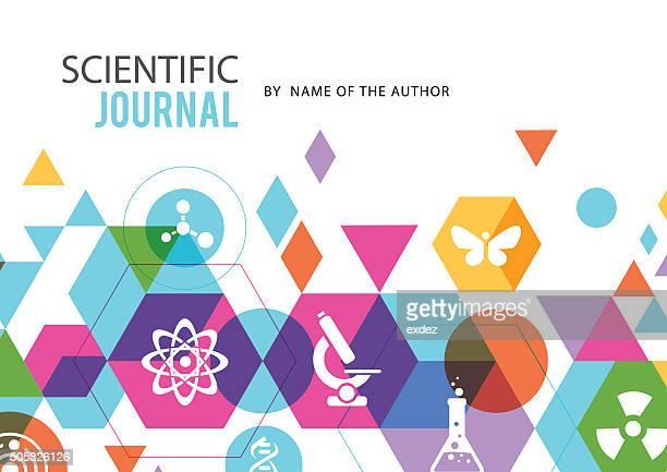 Espacio de copia Diseño de cubierta en la ciencia