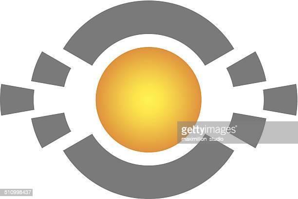 Core digital future technology ball logo icon