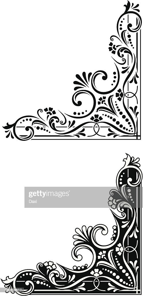 Corner Decoration : Vector Art