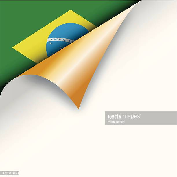 Corner page turn - Brazilian flag