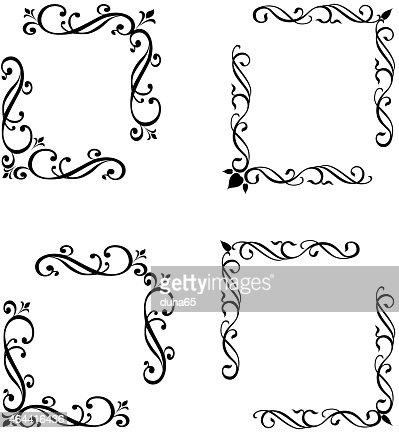 Bilderrahmen verzieren ornamente  Corner Vektorgrafik | Thinkstock