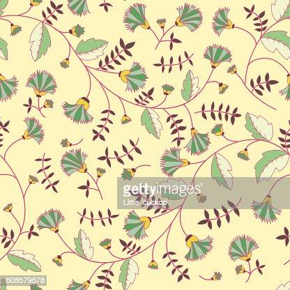 Cornflower pattern. Vector seamless texture : Vectorkunst