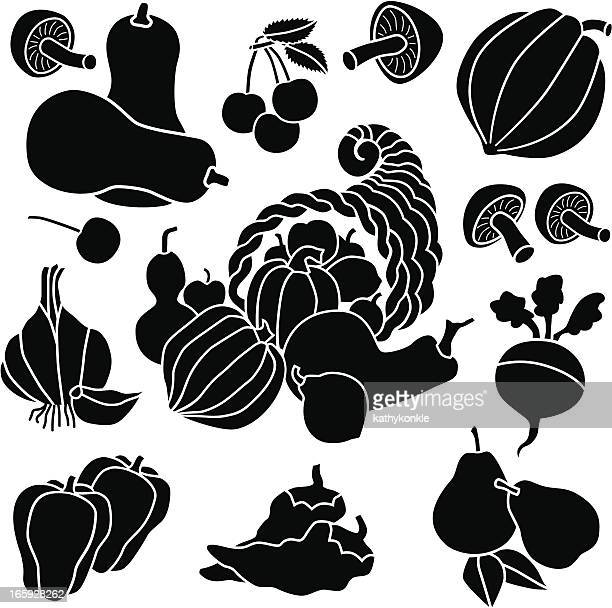 cornucopia and produce icons