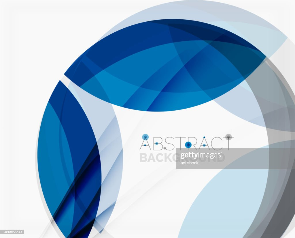 Corporate blue wave background for your business message : Vector Art