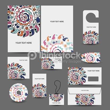 Entreprise Style Et Design Dossier Enveloppe Cartes De Visite Des Etiquettes