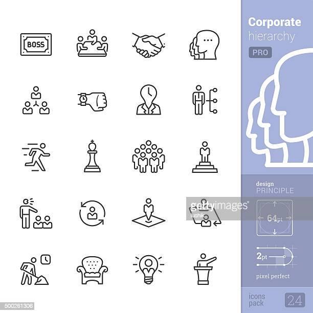 Gerarchia aziendale relative icone vettoriali-PRO pack