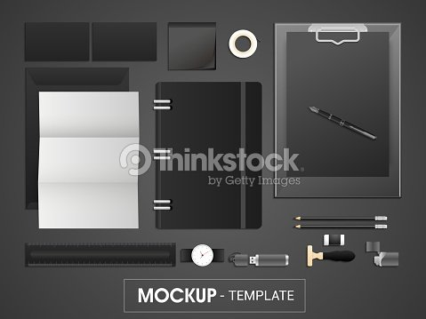 corporate identity kit or mockup template for business vector art