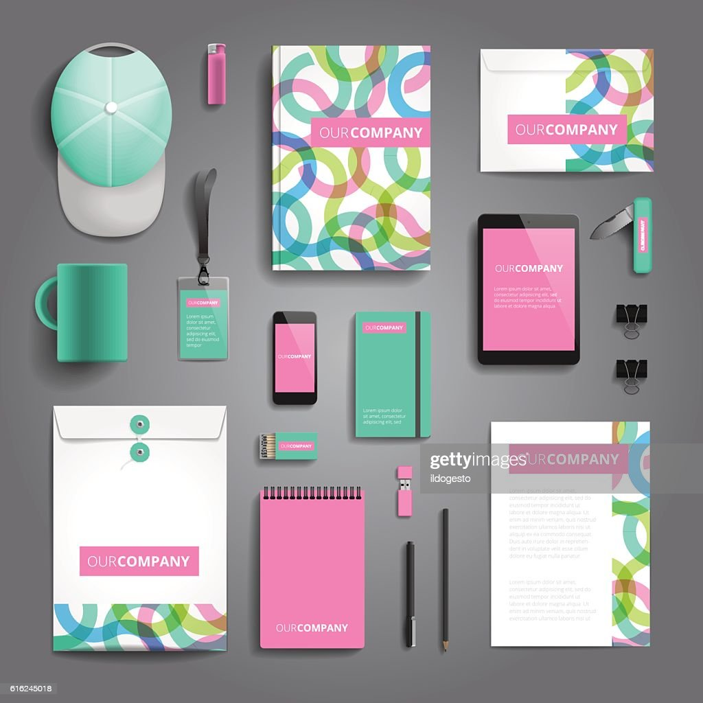 Corporate identity print template : Vector Art