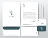 Layout Template elements, Presentation flat vector illustration design, brochure poster flyer leaflet Spa Healthy