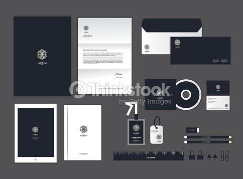 Corporate Identity Template Set H Vector Art | Thinkstock