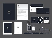 corporate identity template for your business includes CD Cover, Business Card, folder, ruler, Envelope and Letter Head Designs H