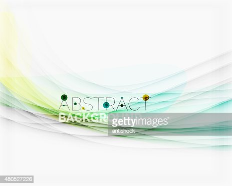 Corporate white background with gentle flowing waves : Vector Art