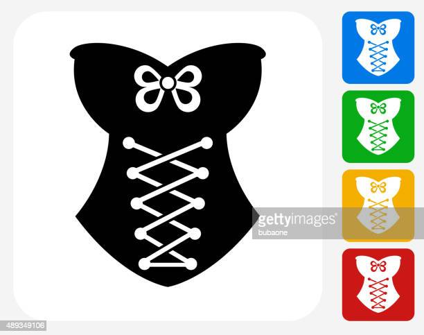 Corset Icon Flat Graphic Design