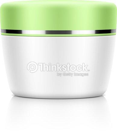 Cosmetic Packaging Cream Powder Or Gel Jar Template Vector Art ...