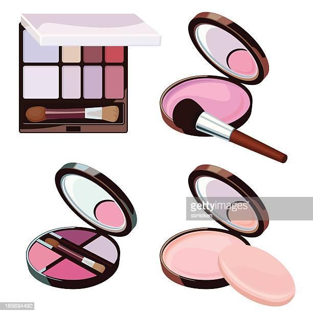 Kosmetische Pulver-Kollektion
