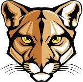 Graphic Vector Mascot Image of a Mountain Lion Head