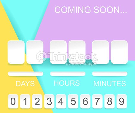 Countdown Timer Template Counter Design For Website With Numbers ...