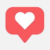 Counter, follower notification symbol instagram. Buton for social media .
