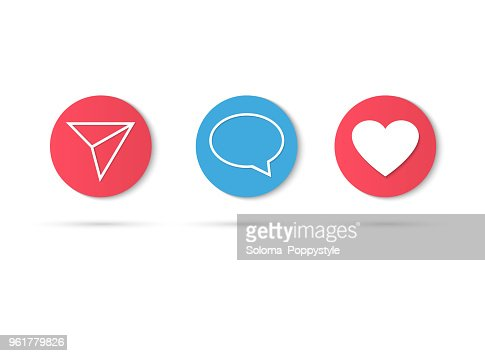 Counter Notification Icon Instagram. Follower Inst. New Icon like. Social media like insta ui, app, iphone. Vector illustration : stock vector