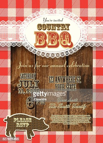 country and western hoedown denim and leather invitation design, Wedding invitations