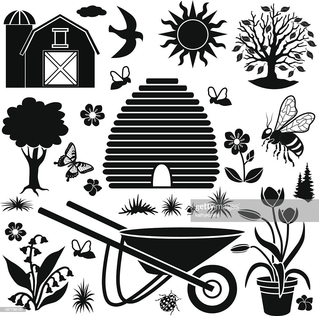 Garden Design Elements country garden design elements vector art | getty images
