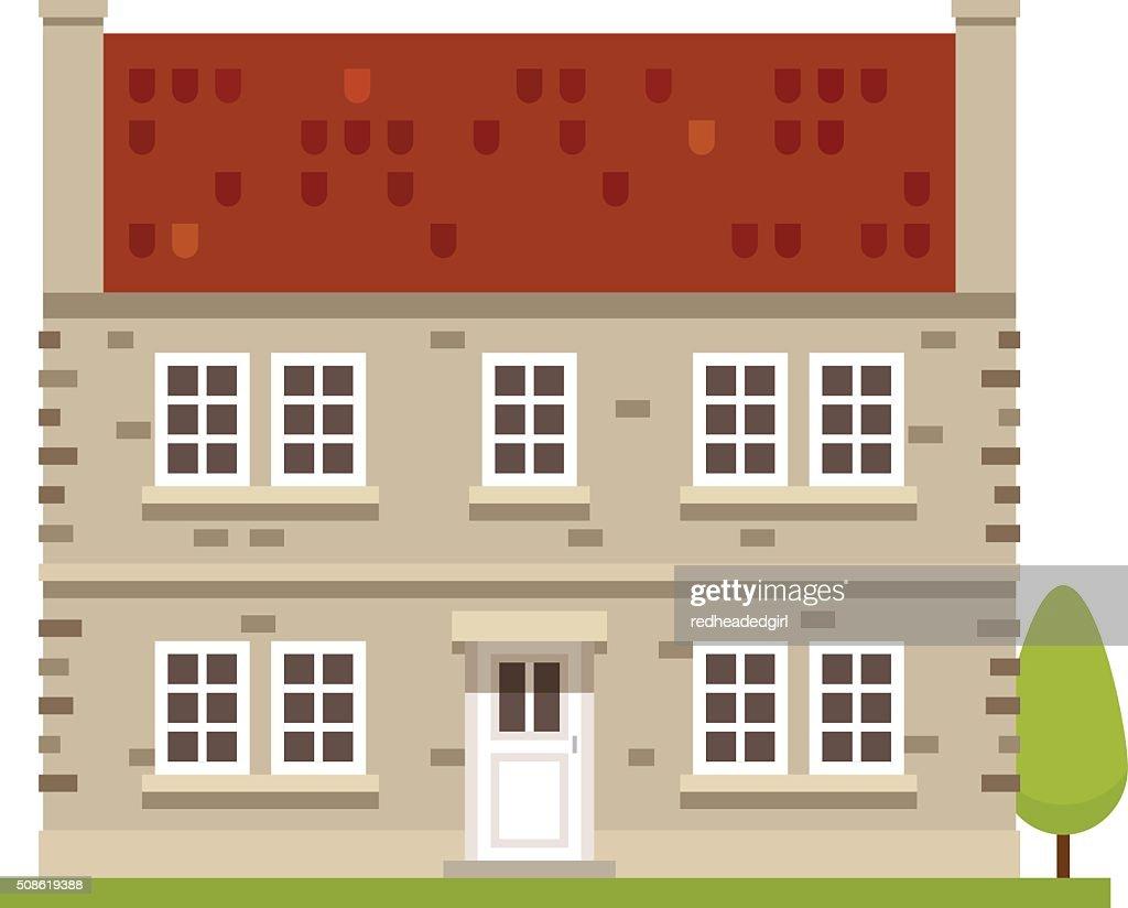 Countryside House : Vector Art