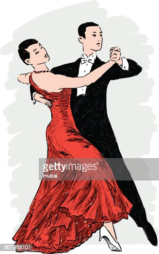 Couple de danse clipart vectoriel getty images - Type de danse de salon ...