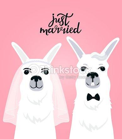 e54c9297bf Novia en velo. El novio en una corbata de lazo. Letras de mano recién  casados