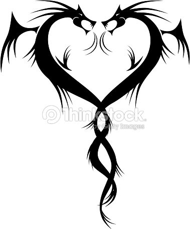 Download Couple Of Dragons Tattoo Heart Shape stock vector   Thinkstock