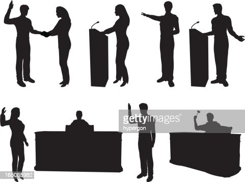 Courtroom Silhouette Collection Vector Art | Getty Images